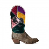Charlenne Patchwork Boot