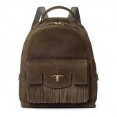 Steer-Head Suede Backpack