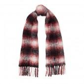 Plaid Fringe Wool Scarf