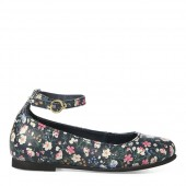Alyssa II Floral Leather Flat