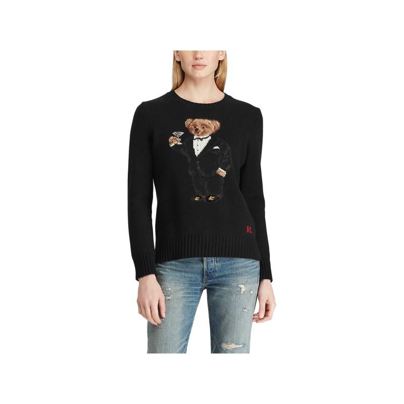 Martini Bear Wool Sweater