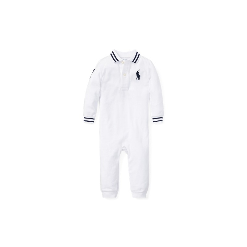 Cotton Mesh Polo Coverall
