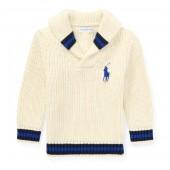 Cotton Shawl-Collar Sweater