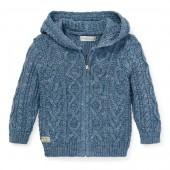 Aran Cotton Hooded Sweater