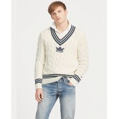 Cotton-Blend Cricket Sweater