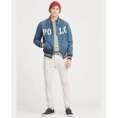 Varsity-Inspired Denim Jacket