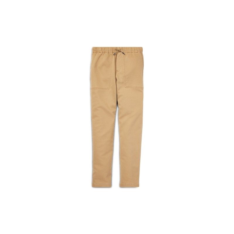Tapered Stretch Cotton Pant