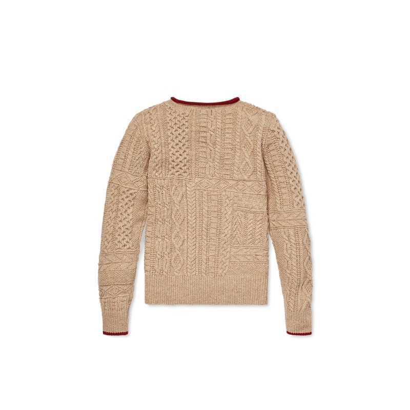 Flag Cable-Knit Sweater