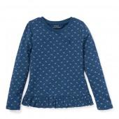 Ruffled Floral Jersey T-Shirt