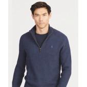 Tussah Silk Half-Zip Sweater
