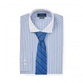 Slim Fit Striped Poplin Shirt