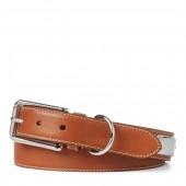 Full-Grain Leather Plaque Belt