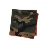 Camo-Print Wool Pocket Square