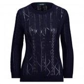 Sequin-Beaded Cotton Sweater