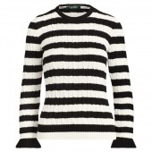 Striped Cable Cotton Sweater