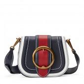 Color-Block Leather Lennox Bag