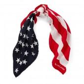 Pleated Flag Silk Bandanna