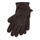 Side-Zip Deerskin Gloves
