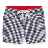 Traveler Gingham Swim Trunk