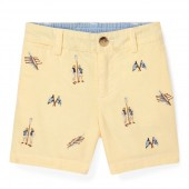Embroidered Cotton Short