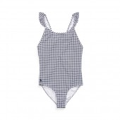 Gingham One-Piece Suit