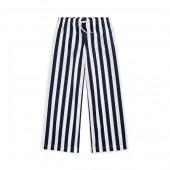 Striped Cotton Dobby Pant