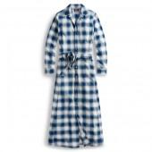 Plaid Plain-Weave Dress
