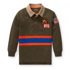Cotton-Blend-Mesh Rugby Shirt