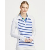 Striped Golf Half-Zip Pullover