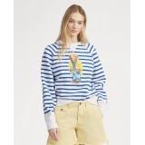 Polo Bear Striped Fleece Shirt