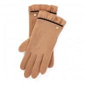 Ruffle-Cuff Wool Tech Gloves