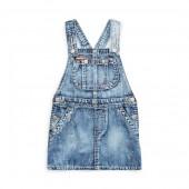 Cotton Overall Denim Dress