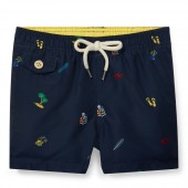 Traveler Print Swim Trunk