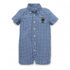 Bear Gingham Cotton Shortall