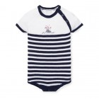 Striped Knit Cotton Bodysuit