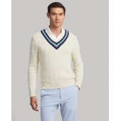 Cotton-Blend Cricket Sweater
