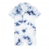 Tie-Dye Cotton Polo Shortall