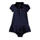 Pleated Polo Dress  Bloomer