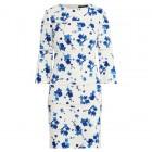 Lace-Trim Floral Dress