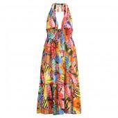 Floral Cotton Dress Cover-Up