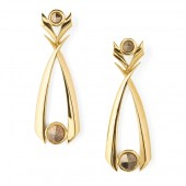 Rivoli Pyrite Earrings