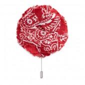 Large Bandanna Floral Pin