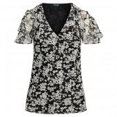 Ruffled Floral Georgette Top