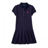 Polka-Dot Polo Dress