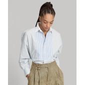 Boy Fit Striped Cotton Shirt