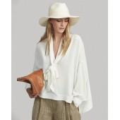 Silk Georgette Necktie Shirt