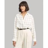 Plaid Silk Broadcloth Shirt