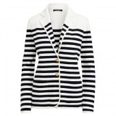 Striped Cotton-Blend Blazer