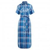 Plaid Belted Shirtdress