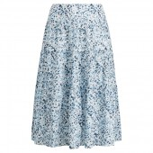 Tiered Cotton Peasant Skirt